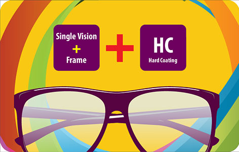 Single Vision Eyeglasses with HC lens at Rs.790 only